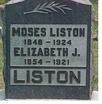 LISTON, ELIZABETH J. - Scioto County, Ohio | ELIZABETH J. LISTON - Ohio Gravestone Photos