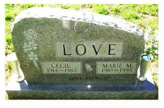 LOVE, MARIE M. - Scioto County, Ohio | MARIE M. LOVE - Ohio Gravestone Photos