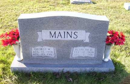 MAINS, BLANCHE - Scioto County, Ohio | BLANCHE MAINS - Ohio Gravestone Photos