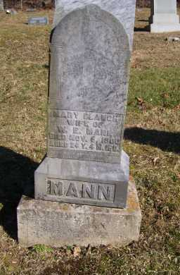MANN, MARY BLANCH - Scioto County, Ohio | MARY BLANCH MANN - Ohio Gravestone Photos