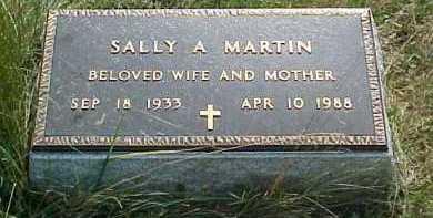 MARTIN, SALLY A. - Scioto County, Ohio | SALLY A. MARTIN - Ohio Gravestone Photos