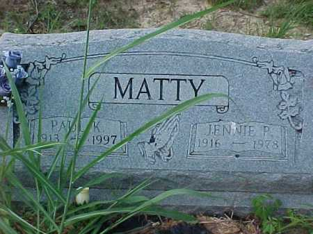 MATTY, JENNIE P. - Scioto County, Ohio | JENNIE P. MATTY - Ohio Gravestone Photos
