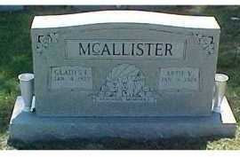 MCALLISTER, ARTIE V. - Scioto County, Ohio | ARTIE V. MCALLISTER - Ohio Gravestone Photos