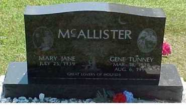 MCALLISTER, GENE TUNNEY - Scioto County, Ohio   GENE TUNNEY MCALLISTER - Ohio Gravestone Photos