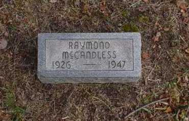 MCCANDLESS, RAYMOND - Scioto County, Ohio | RAYMOND MCCANDLESS - Ohio Gravestone Photos