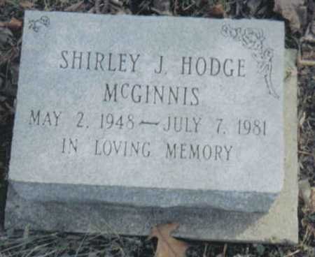 HODGE MCGINNIS, SHIRLEY J. - Scioto County, Ohio | SHIRLEY J. HODGE MCGINNIS - Ohio Gravestone Photos