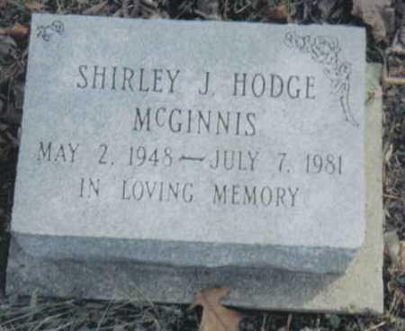 HODGE MCGINNIS, SHIRLEY J. - Scioto County, Ohio | SHIRLEY J. HODGE MCGINNIS - Ohio Gravestone Photos