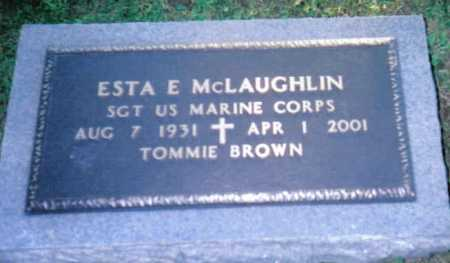 MCLAUGHLIN, ESTA E. - Scioto County, Ohio | ESTA E. MCLAUGHLIN - Ohio Gravestone Photos