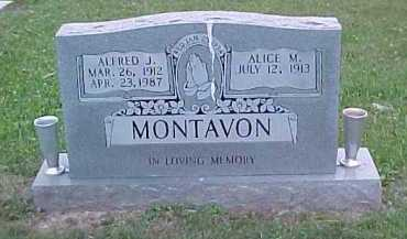MONTAVON, ALICE M. - Scioto County, Ohio | ALICE M. MONTAVON - Ohio Gravestone Photos