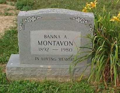 MONTAVON, BANNA A. - Scioto County, Ohio   BANNA A. MONTAVON - Ohio Gravestone Photos