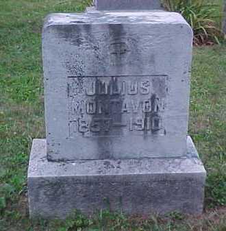 MONTAVON, JULIUS - Scioto County, Ohio | JULIUS MONTAVON - Ohio Gravestone Photos