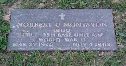 MONTAVON, NORBERT C. - Scioto County, Ohio   NORBERT C. MONTAVON - Ohio Gravestone Photos