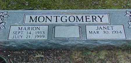 MONTGOMERY, JANET - Scioto County, Ohio | JANET MONTGOMERY - Ohio Gravestone Photos