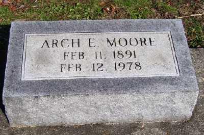 MOORE, ARCH E. - Scioto County, Ohio | ARCH E. MOORE - Ohio Gravestone Photos