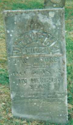 MOORE, ELIZABETH - Scioto County, Ohio   ELIZABETH MOORE - Ohio Gravestone Photos