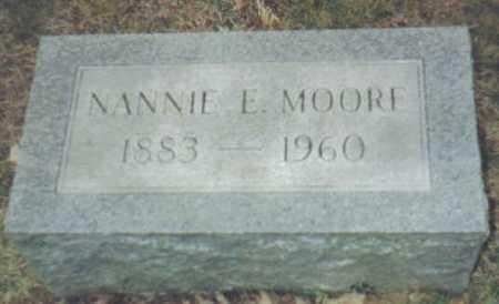 MOORE, NANNIE E. - Scioto County, Ohio   NANNIE E. MOORE - Ohio Gravestone Photos