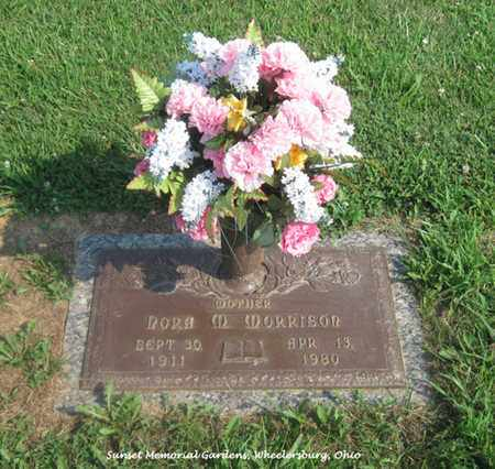 BIARS MORRISON, NORA - Scioto County, Ohio   NORA BIARS MORRISON - Ohio Gravestone Photos