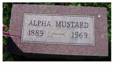 MUSTARD, ALPHA - Scioto County, Ohio | ALPHA MUSTARD - Ohio Gravestone Photos