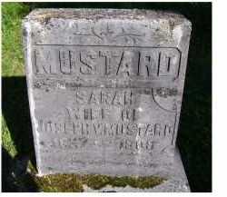 MUSTARD, SARAH - Scioto County, Ohio   SARAH MUSTARD - Ohio Gravestone Photos