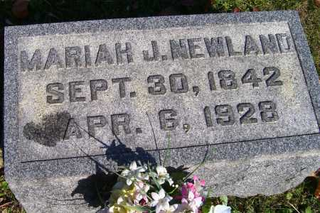 NEWLAND, MARIAH J. - Scioto County, Ohio | MARIAH J. NEWLAND - Ohio Gravestone Photos