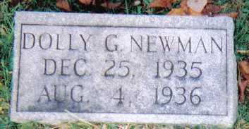 NEWMAN, DOLLY G. - Scioto County, Ohio | DOLLY G. NEWMAN - Ohio Gravestone Photos