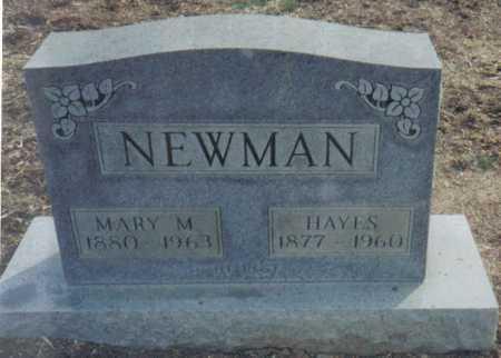 NEWMAN, HAYES - Scioto County, Ohio | HAYES NEWMAN - Ohio Gravestone Photos