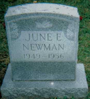 NEWMAN, JUNE E. - Scioto County, Ohio | JUNE E. NEWMAN - Ohio Gravestone Photos