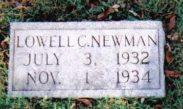 NEWMAN, LOWELL C. - Scioto County, Ohio | LOWELL C. NEWMAN - Ohio Gravestone Photos