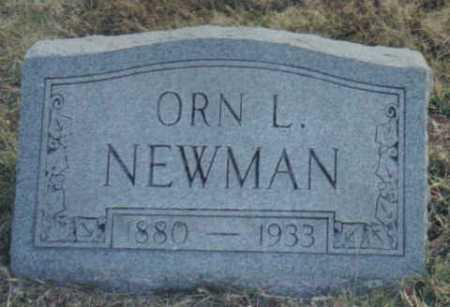 NEWMAN, ORN L. - Scioto County, Ohio | ORN L. NEWMAN - Ohio Gravestone Photos
