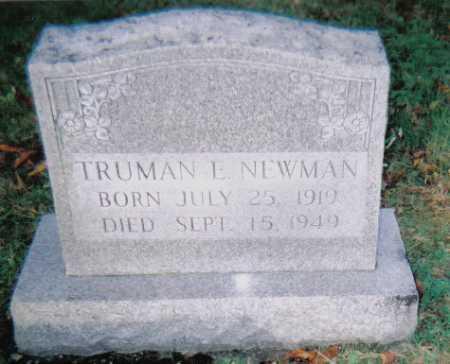 NEWMAN, TRUMAN E. - Scioto County, Ohio | TRUMAN E. NEWMAN - Ohio Gravestone Photos
