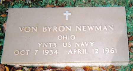NEWMAN, VON BYRON - Scioto County, Ohio | VON BYRON NEWMAN - Ohio Gravestone Photos