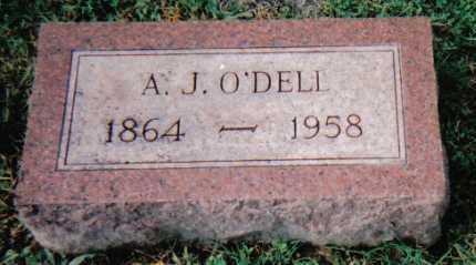O'DELL, A.J. - Scioto County, Ohio   A.J. O'DELL - Ohio Gravestone Photos