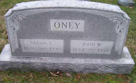 ONEY, SARAH J. - Scioto County, Ohio   SARAH J. ONEY - Ohio Gravestone Photos