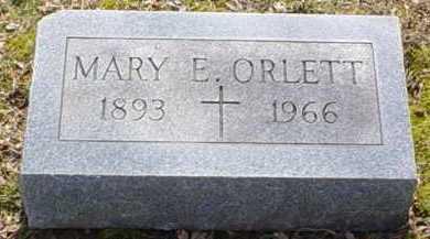 ORLETT, MARY E. - Scioto County, Ohio | MARY E. ORLETT - Ohio Gravestone Photos