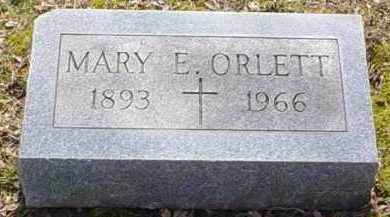 ORLETT, MARY E. - Scioto County, Ohio | MARY E. ORLETT - Ohio Gravestone Photos