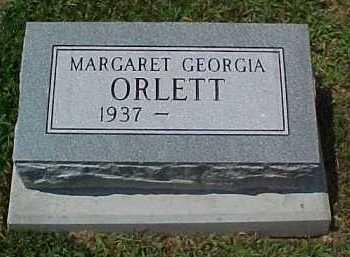 ORLETT, MARGARET GEORGIA - Scioto County, Ohio   MARGARET GEORGIA ORLETT - Ohio Gravestone Photos
