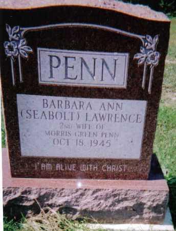 SEABOLT PENN, BARBARA ANN - Scioto County, Ohio | BARBARA ANN SEABOLT PENN - Ohio Gravestone Photos