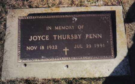 PENN, JOYCE THURSBY - Scioto County, Ohio | JOYCE THURSBY PENN - Ohio Gravestone Photos