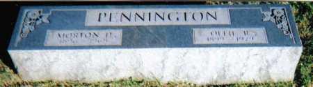 PENNINGTON, OLLIE R. - Scioto County, Ohio | OLLIE R. PENNINGTON - Ohio Gravestone Photos