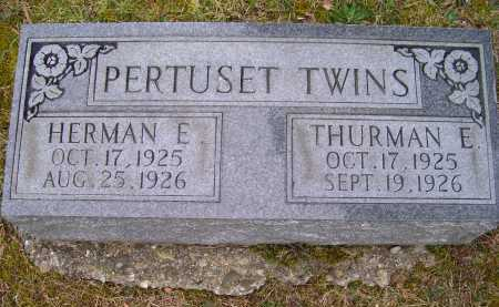 PERTUSET, HERMAN E. - Scioto County, Ohio | HERMAN E. PERTUSET - Ohio Gravestone Photos