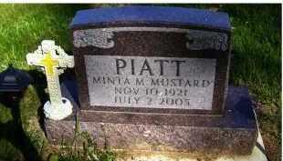 MUSTARD PIATT, MINTA M. - Scioto County, Ohio | MINTA M. MUSTARD PIATT - Ohio Gravestone Photos