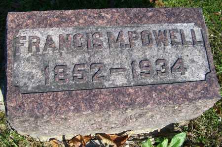 POWELL, FRANCIS M. - Scioto County, Ohio   FRANCIS M. POWELL - Ohio Gravestone Photos