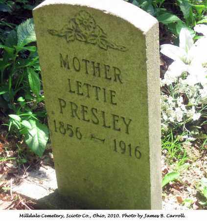 PRESLEY, LETTIE - Scioto County, Ohio   LETTIE PRESLEY - Ohio Gravestone Photos