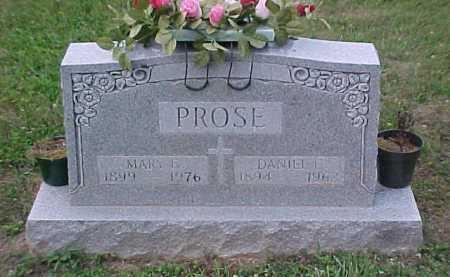 PROSE, DANIEL C. - Scioto County, Ohio | DANIEL C. PROSE - Ohio Gravestone Photos