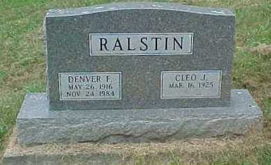 RALSTIN, DENVER F. - Scioto County, Ohio | DENVER F. RALSTIN - Ohio Gravestone Photos