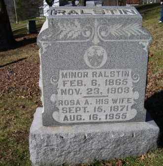 RALSTIN, MINOR - Scioto County, Ohio | MINOR RALSTIN - Ohio Gravestone Photos