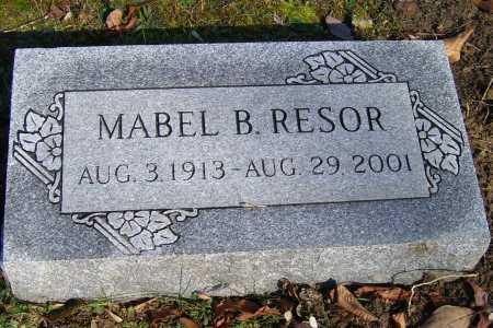 RESOR, MABEL B. - Scioto County, Ohio   MABEL B. RESOR - Ohio Gravestone Photos