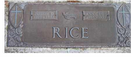 RICE, JOSEPH D. - Scioto County, Ohio | JOSEPH D. RICE - Ohio Gravestone Photos