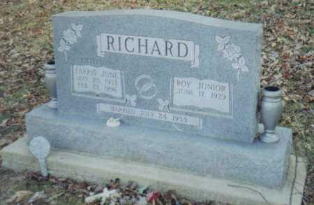 RICHARD, FARRIS JUNE - Scioto County, Ohio | FARRIS JUNE RICHARD - Ohio Gravestone Photos