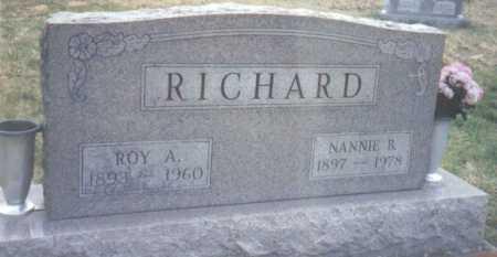 RICHARD, ROY A. - Scioto County, Ohio | ROY A. RICHARD - Ohio Gravestone Photos